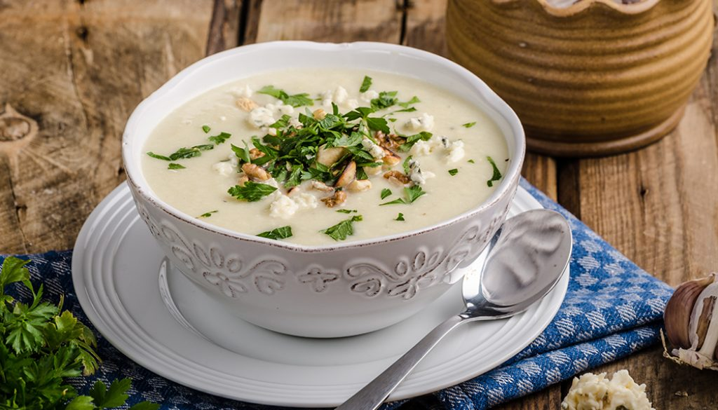 Cauliflower and Blue Cheese Soup 1